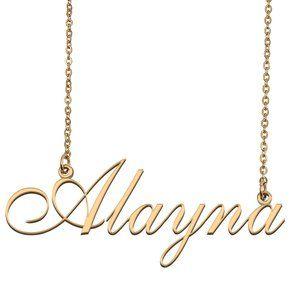 Custom Personalized Alayna Name Necklace